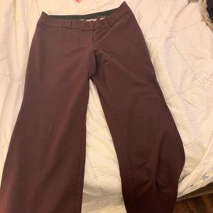 Loft Julie trouser size 10 in burgundy